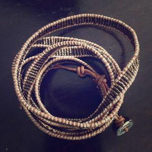 Beaded wrap bracelet! So cool!